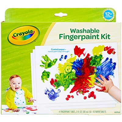 Crayola My First Finger Paint For Toddlers, Painting Paper, Kids Indoor Activities At Home, Gift: Toys & Games