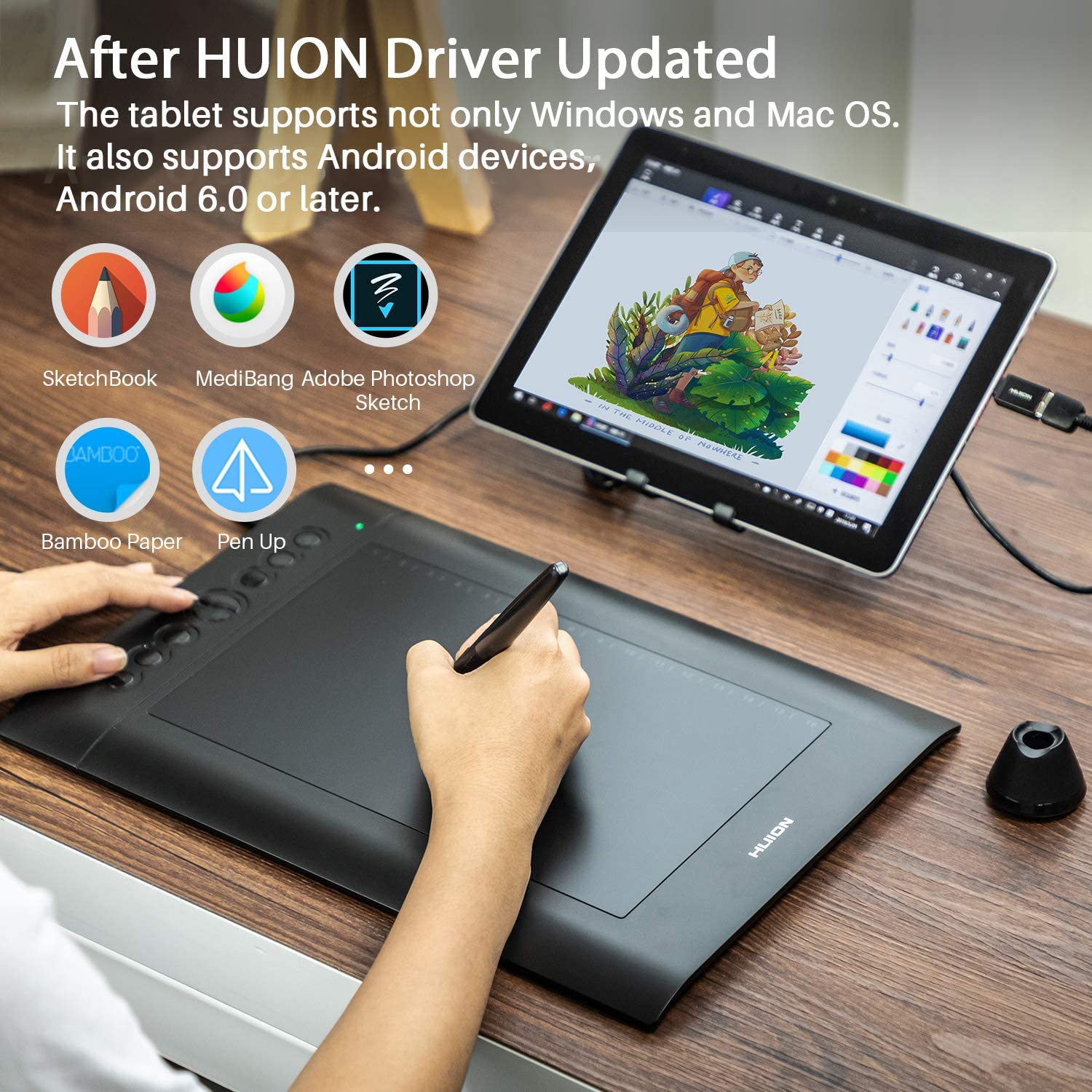 Huion H610 Pro V2 Wireless Drawing Tablet