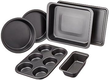 Backformen  AmazonBasics Backformen-Set, 6-teilig: Amazon.de: Küche & Haushalt
