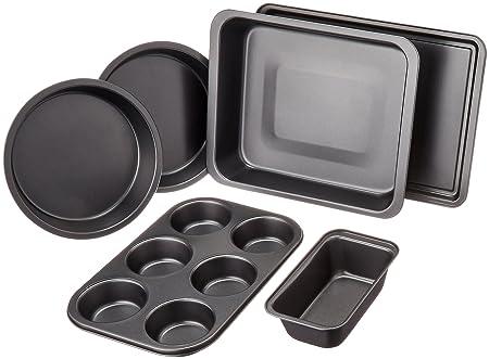 AmazonBasics - Juego de 6 utensilios para horno: Amazon.es: Hogar