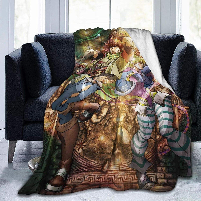 Jo-jo's Bi-zarre Ad-venture Micro Fleece Blanket Lightweight Soft Warm Cozy Throw Blanket Home Decor For Couchbed Sofa All Season 50