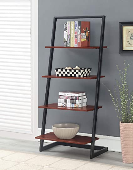 Hard-Working Bookshelf 4 Tiers Storage Shelf Unit Bookshelf Bookcase Book Storage Display Rack Home