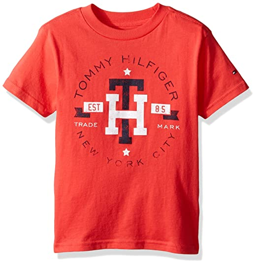 5ee693c51 Amazon.com: Tommy Hilfiger Kids Mens Circa Mark Tee (Big Kids): Clothing