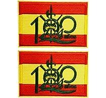 2 pcs Parche bandera 100 años Legión española 5,8x4cm: Amazon.es: Hogar