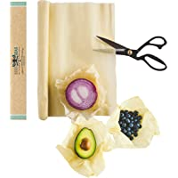 "Bees4Seas Beeswax Food Wrap Roll-75""x14"" XL. Eco-Friendly Wraps Made In USA, No Synthetic Waxes or Dyes. Reusable Wax…"