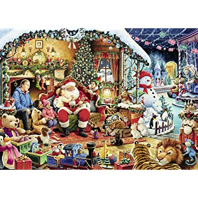Ravensburger Let's Visit Santa 15354 1000 Piece Holiday Puzzle for Adults, Every Piece is Unique, Softclick Technology Means Pieces Fit Together Perfectly: Toys & Games
