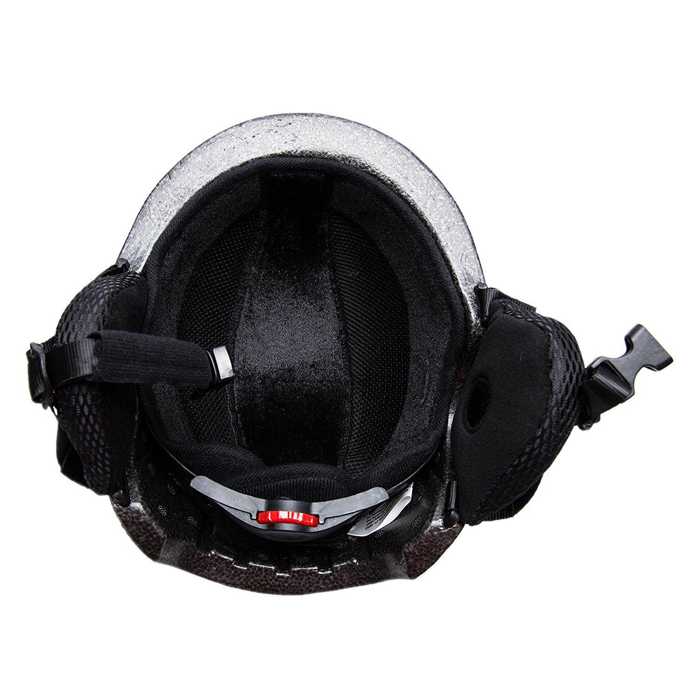 Playdo Unisex Snow Sports Helmet Lightweight Integrally Warmest Windproof Helmets for Snowboarding Skiing Ski Goggles Compatible