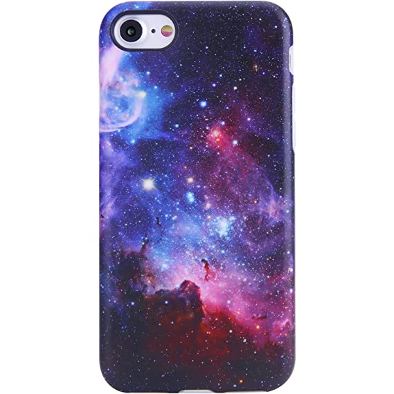 new products 3b89b 8ec0f VIVIBIN iPhone 7 Case,iPhone 8 Case, Cute Galaxy Nebula Design for Man  Women Girls Kids,Clear Bumper Best Soft Silicone Rubber Matte TPU  Protective ...