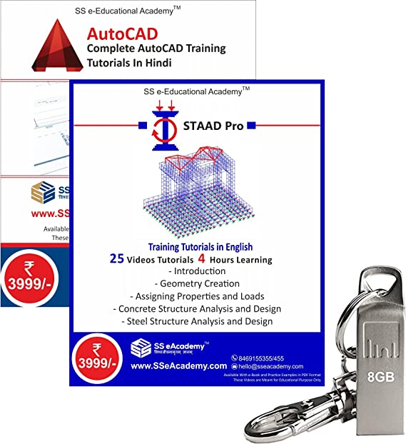 professional autocad and staad pro training tutorials with example