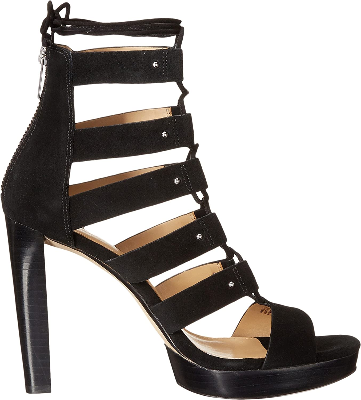 8e96e76eb860 Michael Michael Kors Women s Sofia Platform Black Sport Suede Sandal   Amazon.co.uk  Shoes   Bags