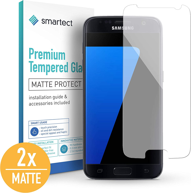 smartect Cristal Templado para Móvil Samsung Galaxy S7 [2X Mate ...