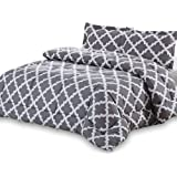 Amazon Price History for:Utopia Bedding Goose Down Alternative Printed Queen Comforter Set with 2 Pillow Shams - Grey