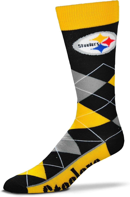 For Bare Feet NFL Mens Argyle Lineup Crew Socks