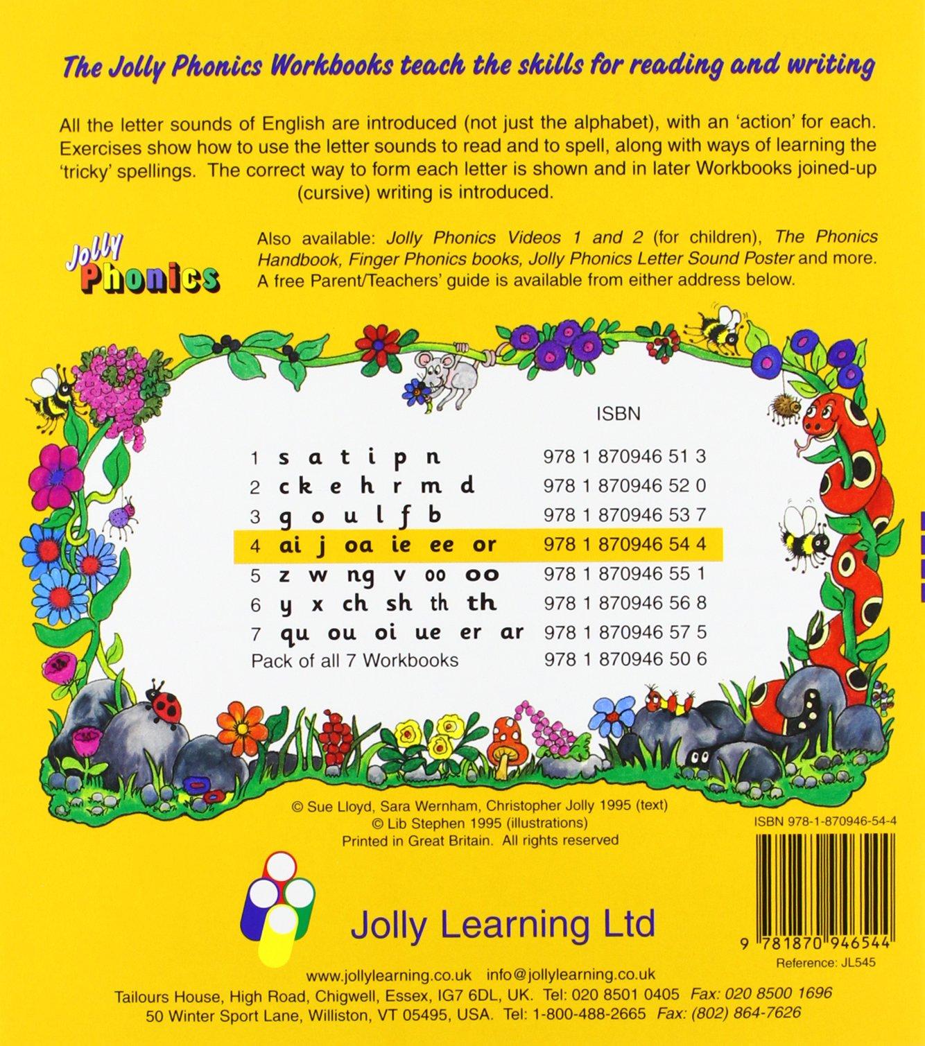 Jolly Phonics Workbooks 1 7 Lloyd Sue Wernham Sara 9781870946506 Amazon Com Books
