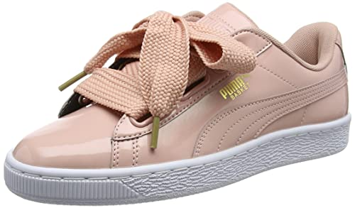 70cfbeaaf6ae Image Unavailable. Image not available for. Colour  Puma Women s Basket  Heart Patent Wn S Peach Beige Leather Sneakers-6 ...