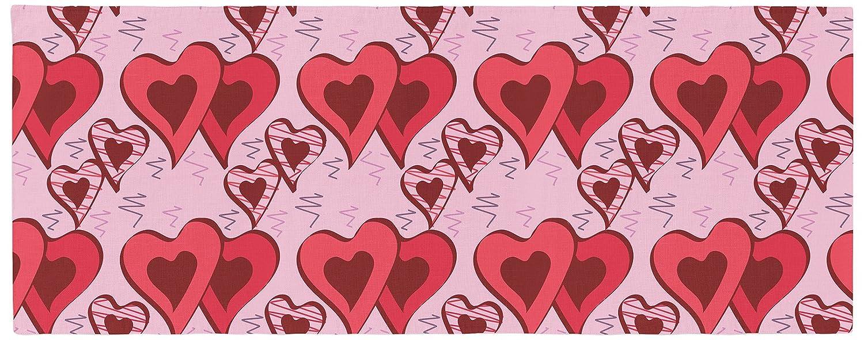 Kess InHouse Scribbled Hearts Pattern Bed Runner 34' x 86'