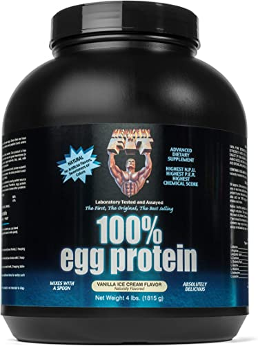 Healthy N Fit 100 Egg Protein- Vanilla 4lb 100 Egg White Protein Plus Natural Peptides. The Highest Quality, Purest, Most Effective, All Natural Protein.