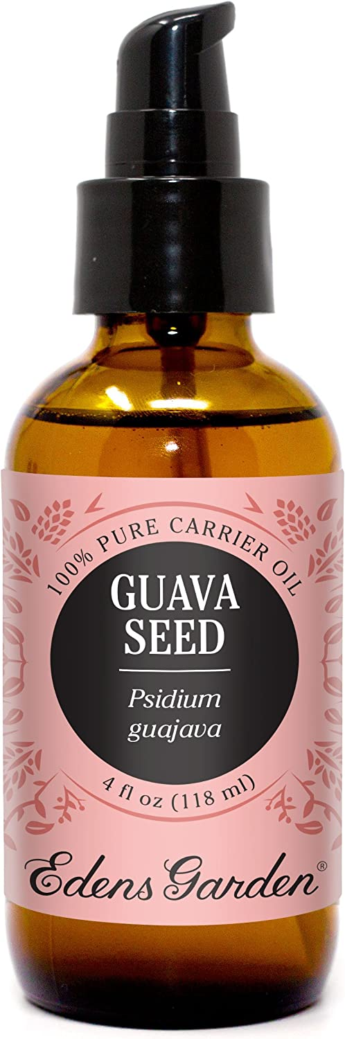 Edens Garden Guava Seed Carrier Oil (Best For Mixing With Essential Oils), 4 oz