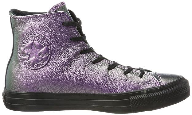 Converse CTAS Hi Violet Black, Baskets Hautes Mixte Adulte, Mehrfarbig (Violet/Black), 38 EU