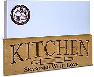 Kitchen Signs Rustic Farmhouse Kitchen Wall Decor (Rustic Brown 5.5x15.5)