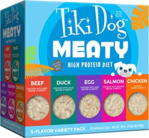 Tiki Dog Meaty Variety Pack Wet Dog Food, 3 oz., Count of 10