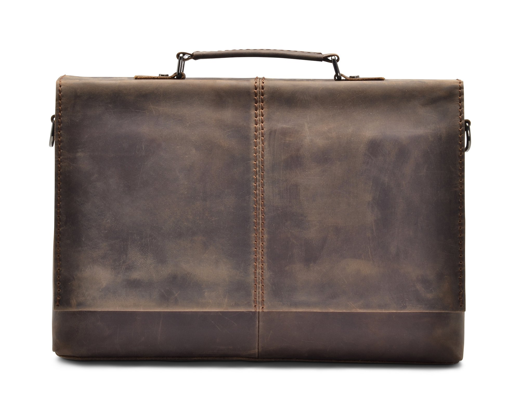 "Hølssen Briefcase Messenger 13"" Laptop Genuine Leather Bag"