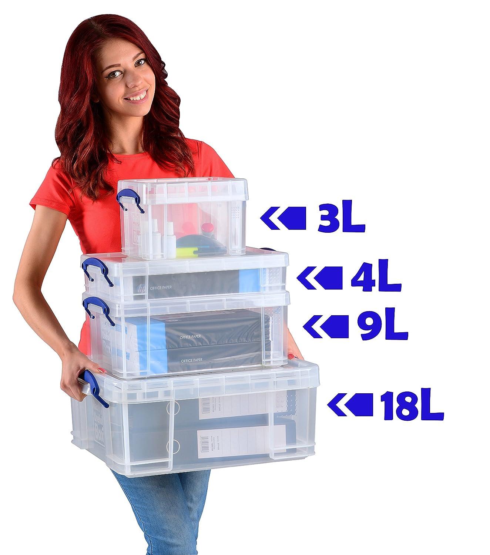 Caja /útil de almacenamiento para peri/ódicos y revistas de 9/litros//caja de zapatos/ /transparente.