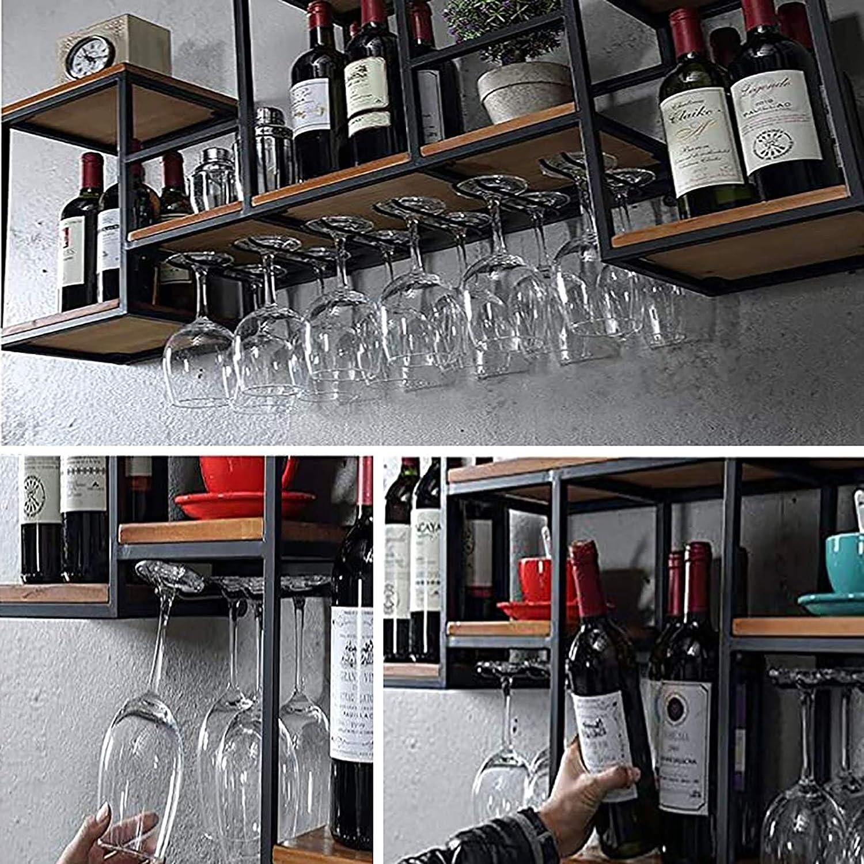 MoDi portabottiglie di Vino Cremagliera del Vino//Parete della casa della cremagliera di Vetro//Parete di Retro cremagliera del Vino del Ferro battuto Europeo soffitto Porta Vino Colore : 2
