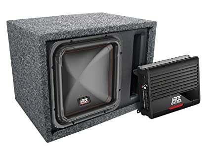 amazon com mtx single 12 square subwoofer amplifier and rh amazon com mtx subwoofer manual polaris mtx powered subwoofer wiring diagram