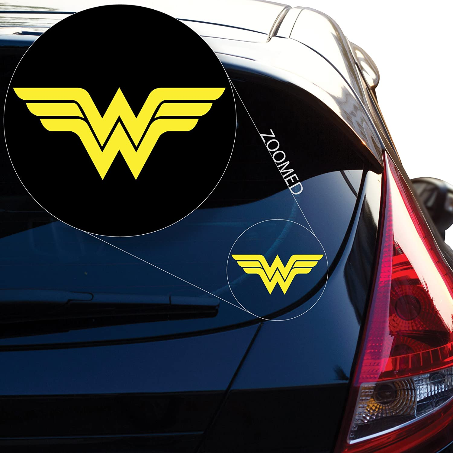 Wonder Woman Decal Sticker for Car Window, Laptop, Motorcycle, Walls, Mirror and More. # 550 (4' x 9.2', White) Mirror and More. # 550 (4 x 9.2 Yoonek Graphics
