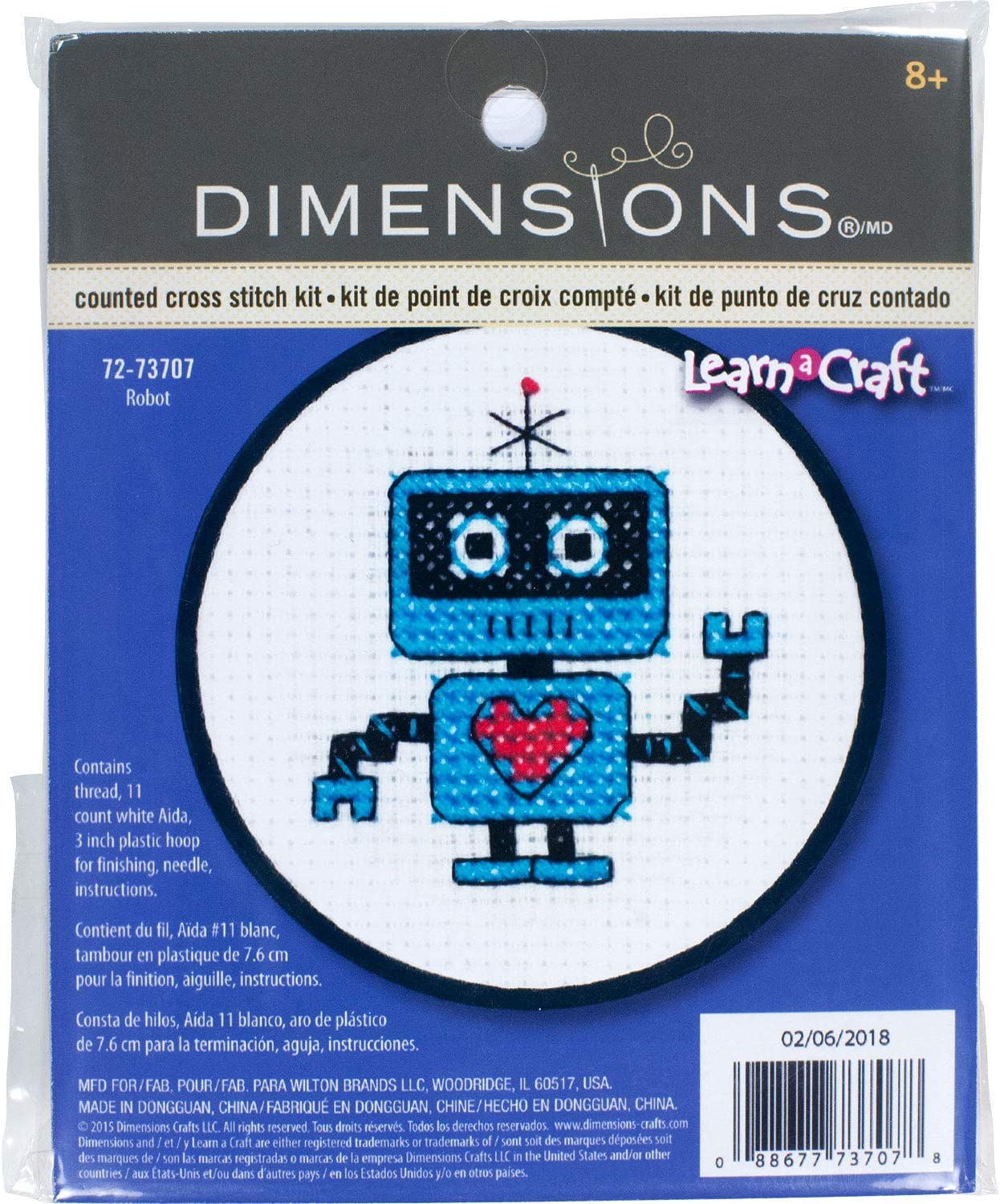Dimensions Needlecrafts Stamped Cross Stitch A Pair Of Hearts
