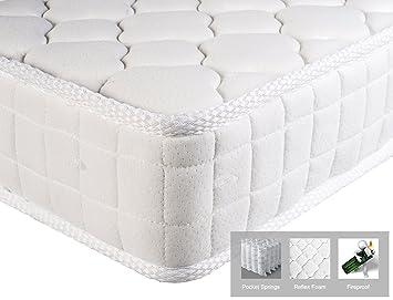 Colchón individual Aingoo Soft Foam y colchón de muelles Colchones individuales 90X190cm,Blanco: Amazon.es: Hogar
