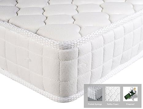 Colchón individual Aingoo Soft Foam y colchón de muelles Colchones individuales 90X190cm,Blanco