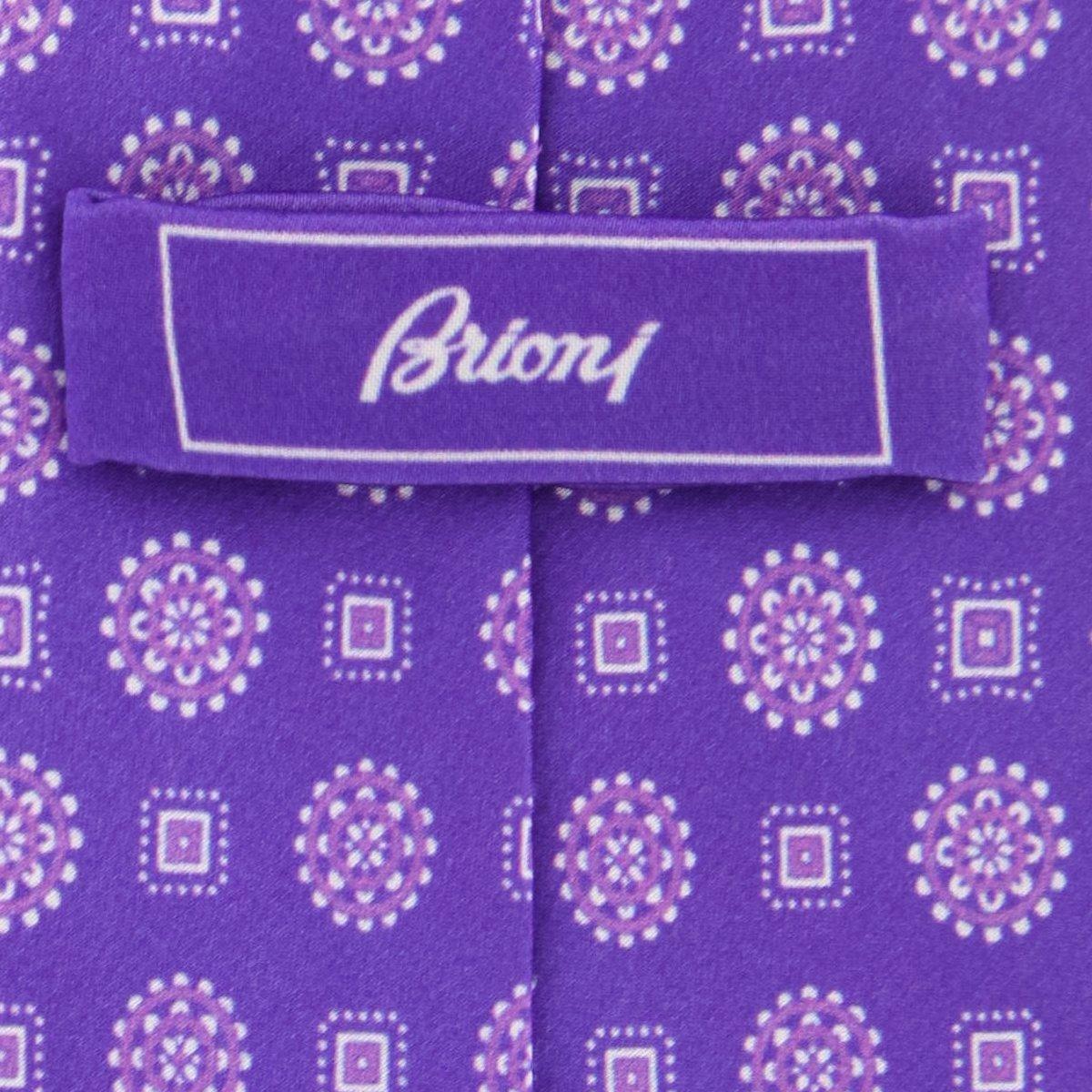 New Brioni Purple Silk Tie