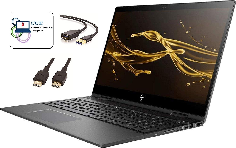 "HP Envy X360 15.6"" FHD IPS Touchscreen Flagship 2-in-1 Laptop, AMD Quad-Core Ryzen 5 2500U, 16GB DDR4, 512GB SSD (Boot) + 1TB Hard Drive, Radeon Vega 8, 802.11ac, Backlit KB, Win 10 + CUE Accessories"