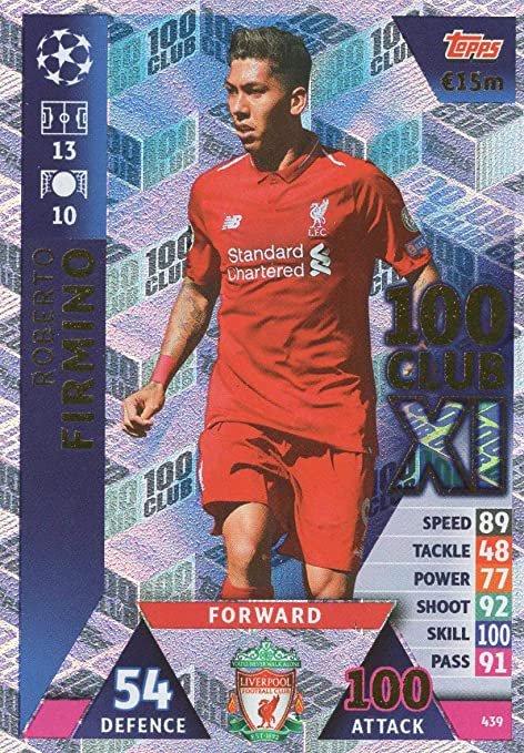 df311cc27ea Image Unavailable. Image not available for. Color  Match ATTAX Champions League  18 19 Roberto FIRMINO 100 Club Trading Card - Liverpool 18