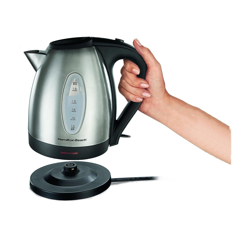 how to clean hamilton beach glass kettle