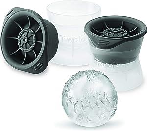 Tovolo Baseball Ice Molds, Set of 2 Baseball-Shaped Ice Sphere Molds, Stackable Sports Ice Molds, Sports-Themed Ice Makers, Giftable Sports Whiskey Ice Ball Molds, BPA-Free & Dishwasher-Safe