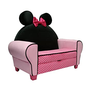 Amazoncom Disney Deluxe Sofa with Storage Minnie Mouse