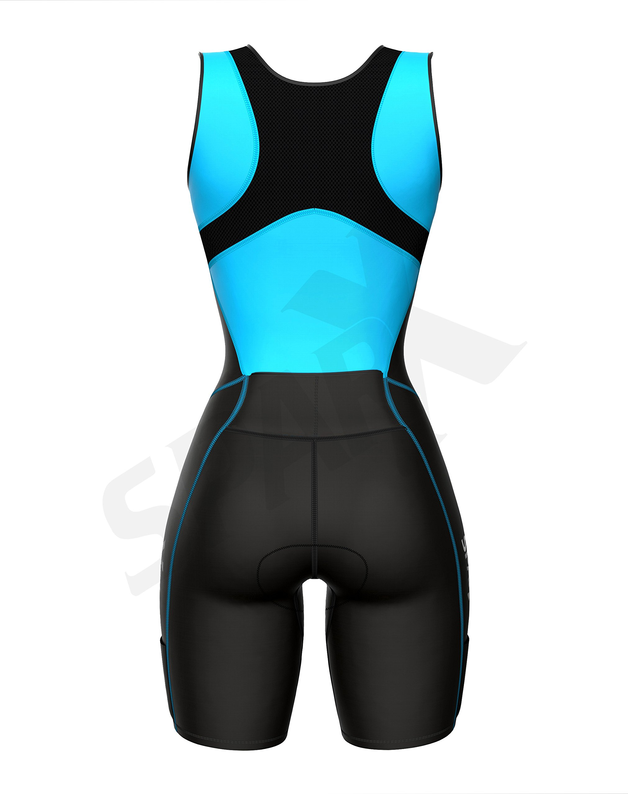 Sparx Women Triathlon Suit Tri Short Racing Cycling Swim Run (Small, Aqua) by Sparx Sports (Image #5)