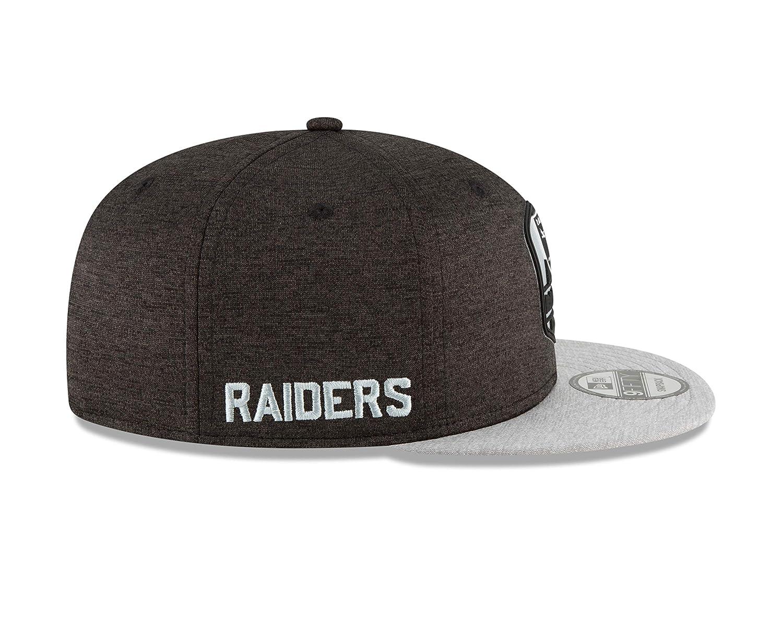 Amazon.com   New Era Oakland Raiders 2018 NFL Sideline Road Official 9FIFTY  Snapback Hat   Sports   Outdoors 15fd6aa1b