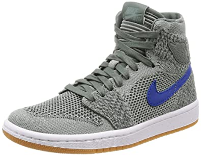 48109dc85df070 Nike Air Jordan 1 Retro HI Flyknit BG Basketball Trainers 919702 Sneakers  Shoes (UK 4