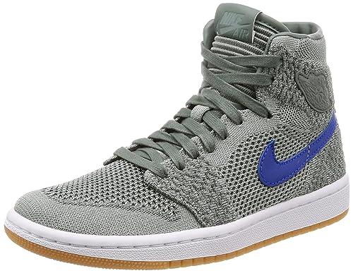 Zapatillas Hombre NIKE Air Jordan 1 Retro High Flyknit GS en Tejido Negro y Rojo 919702-001: Amazon.es: Zapatos y complementos