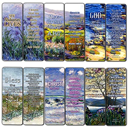 Bible Verses Scriptures Bookmarks Cards