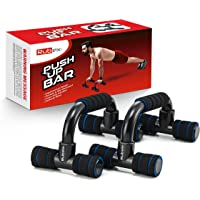 RUBEX Push Up Bars Strength Training, with Foam Grip and Non-Slip Handles Structure - for Perfect Floor Home Exercise…