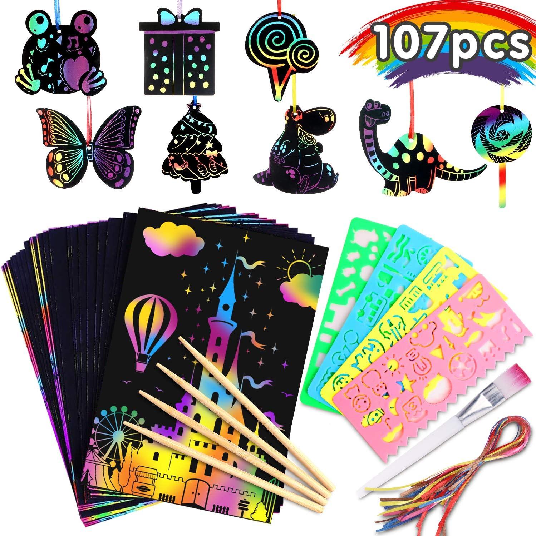 Riarmo 107 Pcs Scratch Art Paper Set $11.85 Coupon