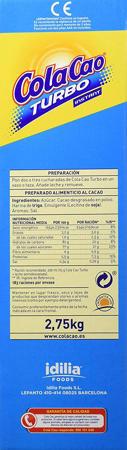 Cola Cao Cacao Soluble 2750 g