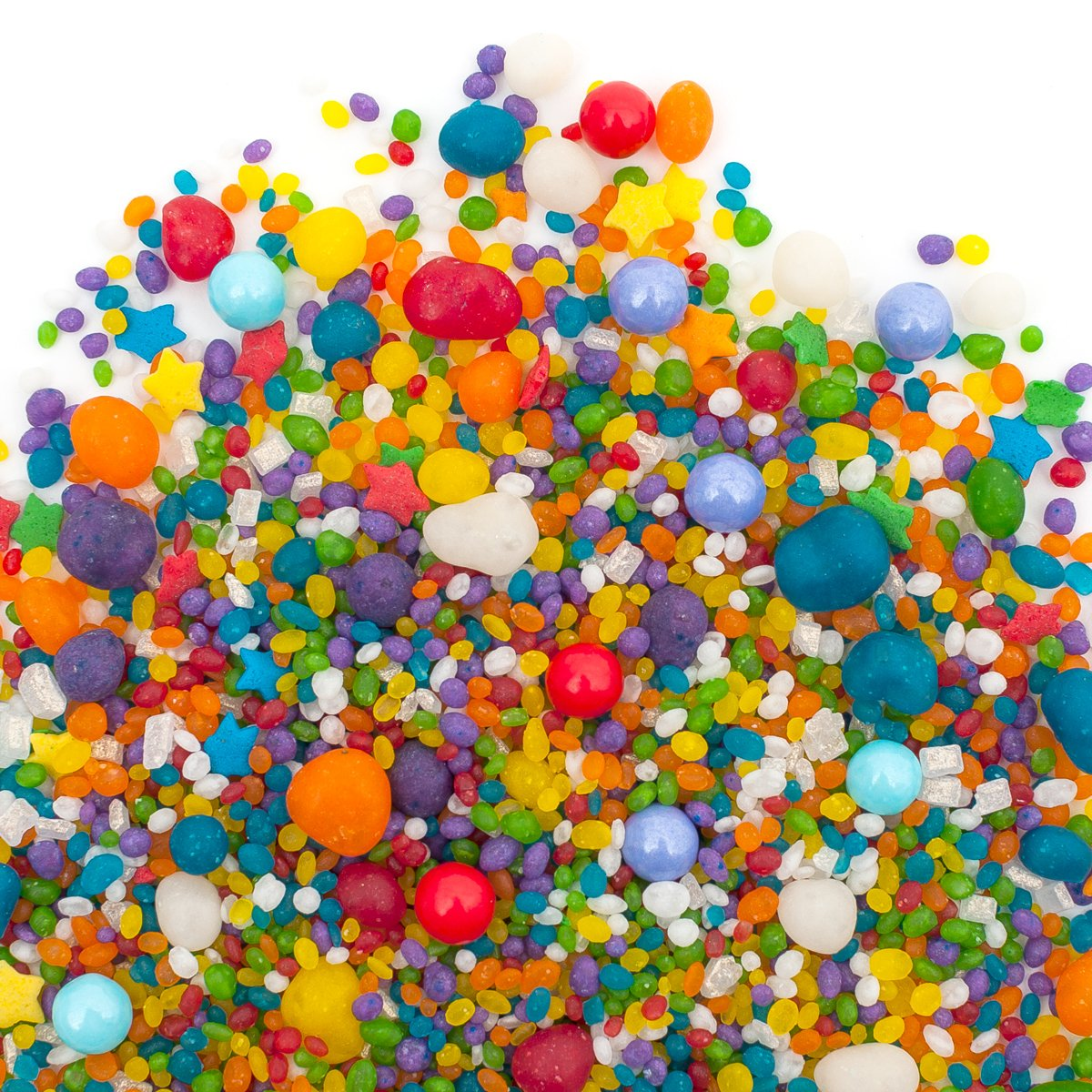 Candy Sprinkles | Rainbow Carnivale Candyfetti | 8oz Jar | Fruit Flavored | MADE IN THE USA! | Edible Confetti