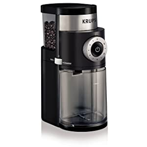 KRUPS GX5000 Professional Electric Coffee Burr Grinder with Grind Size and Cup Selection, 7-Ounce