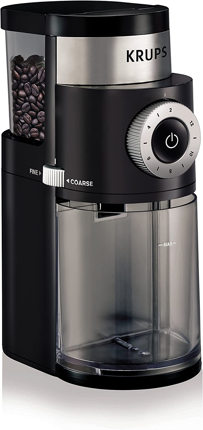 krups expert gvx231 burr coffee grinder review